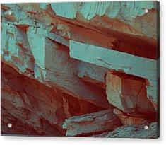 Layers Of Rock Acrylic Print