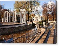 Lazienki Park In Warsaw Acrylic Print by Artur Bogacki