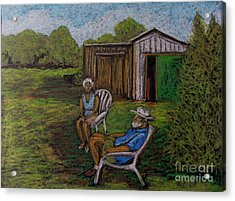 Lazy Day On The Farm Acrylic Print by Reb Frost