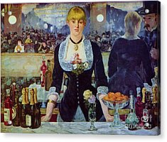 Le Bar Des Folies-bergere Acrylic Print by Pg Reproductions