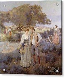 Le Retour De Cythere Acrylic Print by William Lee