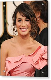 Lea Michele At Arrivals For The Acrylic Print