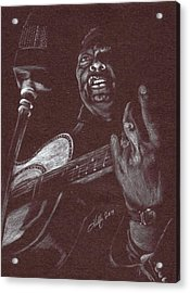 Leadbelly Acrylic Print by Kathleen Kelly Thompson