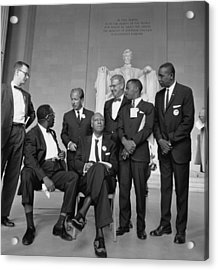 Leaders Of The 1963 March On Washington Acrylic Print by Everett