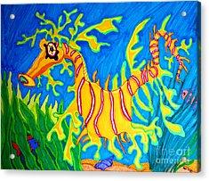 Leafy Sea Dragon Acrylic Print by Nick Gustafson