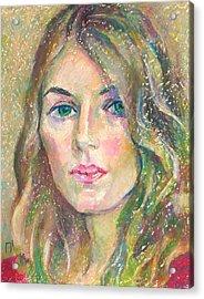 Leah Molina Acrylic Print by Leonid Petrushin