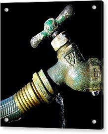Leaky Spigot Acrylic Print by Scott Brown