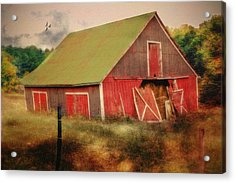 Lean To The Left Acrylic Print by Mary Timman