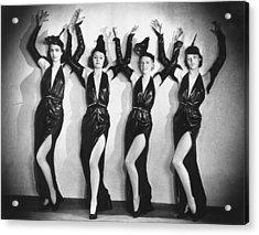 Leather Dancers Acrylic Print by Sasha