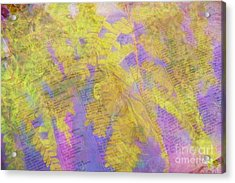 Leaves . . . Trees And Books Acrylic Print by Judi Bagwell