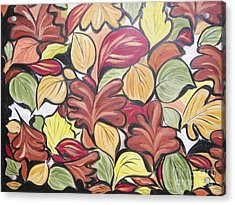 Leaves Of Autumn Acrylic Print by Rachel Carmichael