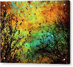Leaves To Feathers Acrylic Print
