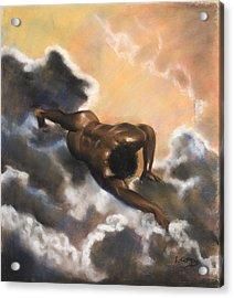 Leaving Eden  Adam Acrylic Print by L Cooper