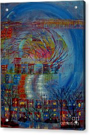 Leaving Home Commuting To Work And Returning Home Acrylic Print