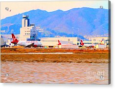 Leaving On A Jet Plane . 7d12335 Acrylic Print by Wingsdomain Art and Photography