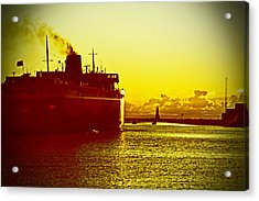 Acrylic Print featuring the photograph Leaving Port by Randall  Cogle