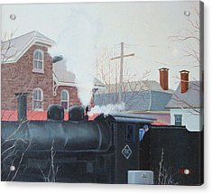 Leaving The Station Acrylic Print by Robert Henne