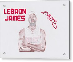 Lebron James Acrylic Print by Toni Jaso