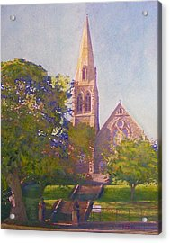 Leckie Memorial  Church  Peebles Scotland Acrylic Print by Richard James Digance