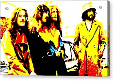 Led Zeppelin Acrylic Print by Paula Sharlea