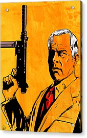 Lee Marvin Acrylic Print by Giuseppe Cristiano