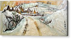 Acrylic Print featuring the painting Left By The Side Of The Road by Debbi Saccomanno Chan