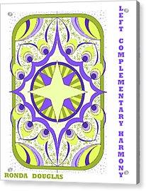 Left Complementary Harmony Acrylic Print