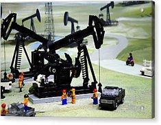 Lego Oil Pumpjacks Acrylic Print by Ricky Barnard