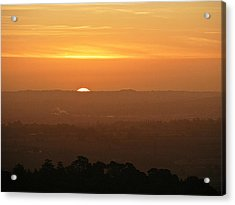 Leicestershire Sunrise Acrylic Print by Linsey Williams