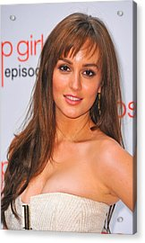 Leighton Meester At Arrivals For Gossip Acrylic Print