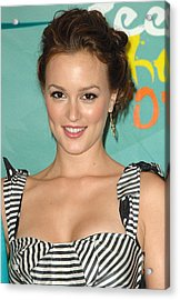 Leighton Meester In The Press Room Acrylic Print by Everett