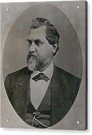 Leland Stanford 1824-1893 Was Drawn Acrylic Print by Everett
