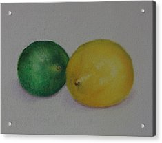 Lemon And Lime Acrylic Print by Loueen Morrison
