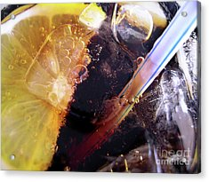 Lemon And Straw Acrylic Print by Carlos Caetano
