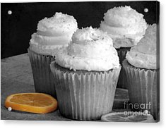 Lemon Cupcakes With A Twist Acrylic Print by Sophie Vigneault