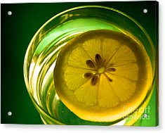 Lemon In The Glass Of Water Acrylic Print