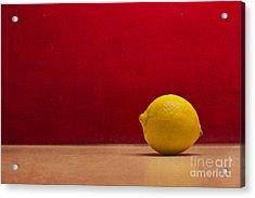 Lemon Yellow And Tomatoe Red Acrylic Print by Catherine MacBride