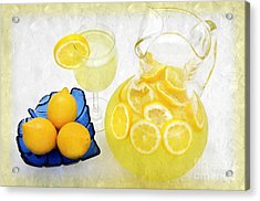 Lemonade And Summertime Acrylic Print by Andee Design