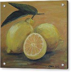 Lemons Acrylic Print by Ema Dolinar Lovsin