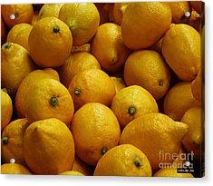 Lemons Acrylic Print by Methune Hively