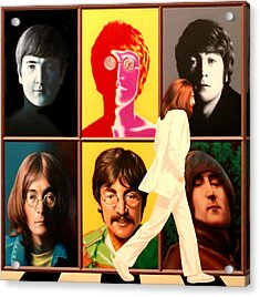 Lennon To The 7th Power Acrylic Print by Ross Edwards