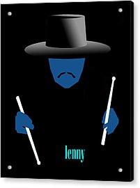Lenny Blue Acrylic Print by Victor Bailey