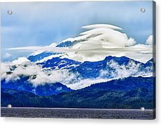 Lenticular And The Chugach Mountains Acrylic Print by Rick Berk