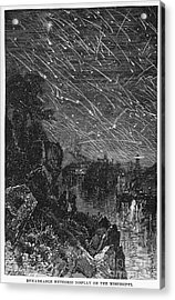 Leonid Meteor Shower, 1833 Acrylic Print by Granger