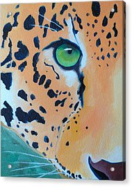 Leopard Eye Acrylic Print by John  Sweeney