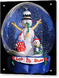 Let It Snow Acrylic Print by Christine Till