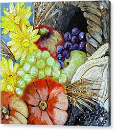 Let Us Give Thanks Acrylic Print by Melissa Torres