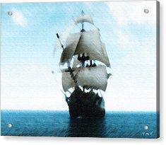 Let's Sail Away Acrylic Print by Tyler Martin