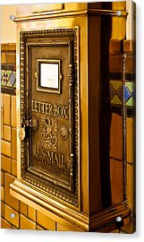 Acrylic Print featuring the photograph Letter Box by Lawrence Burry