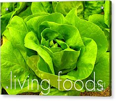 Lettuce Living Raw Foods Acrylic Print by Sacred  Muse